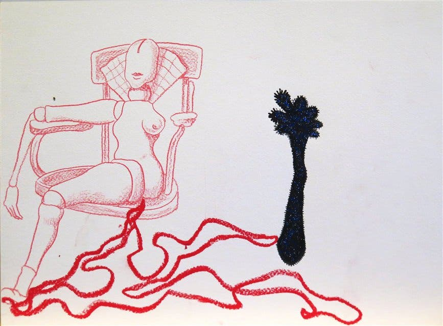 Uno de los dibujos realizados por Bizzio (adelante), Laffitte y Mendanha foto: LA NACION