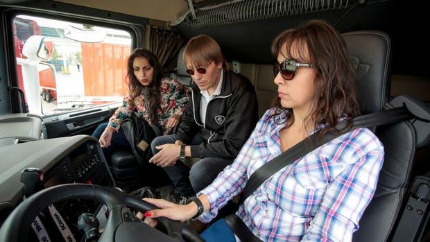 Las mujeres detrás del volante de un camión