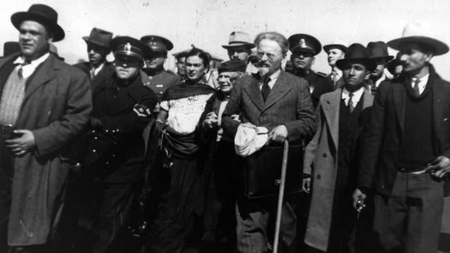 En México, Trotski entabló amistad con Diego Rivera y Frida Kahlo.