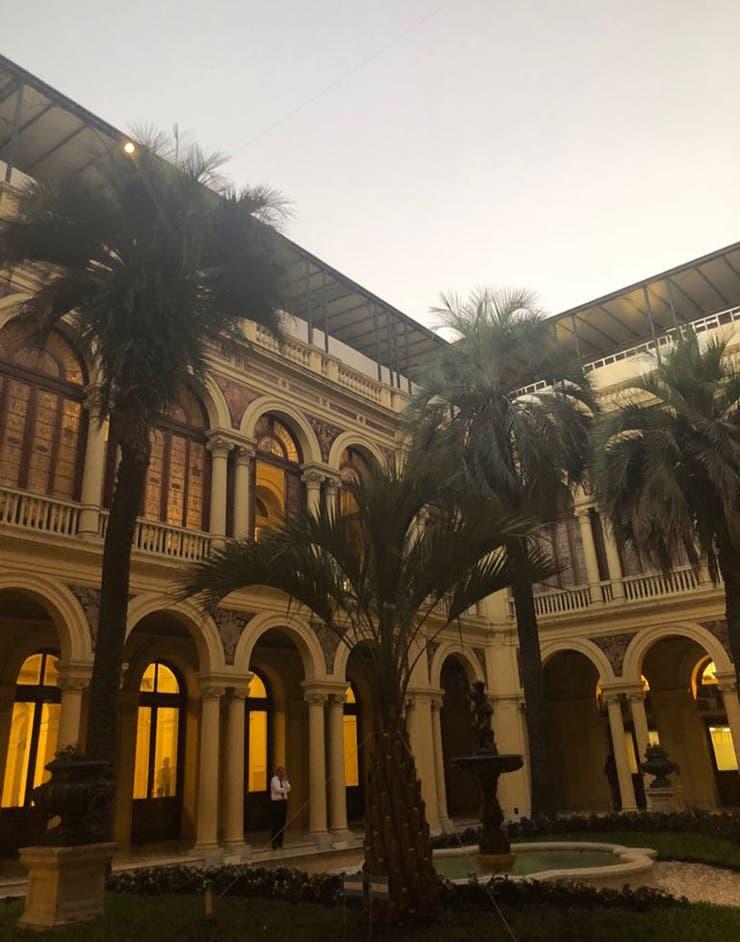 Tras la polémica, plantaron la nueva palmera en Casa Rosada