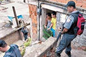 La favela Vidigal, durante uno de los habituales operativos de la policía de Río de Janeiro