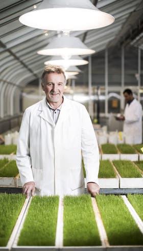 Mike McLaughlin en la Universidad de Adelaida midiendo las respuestas en fertilizantes