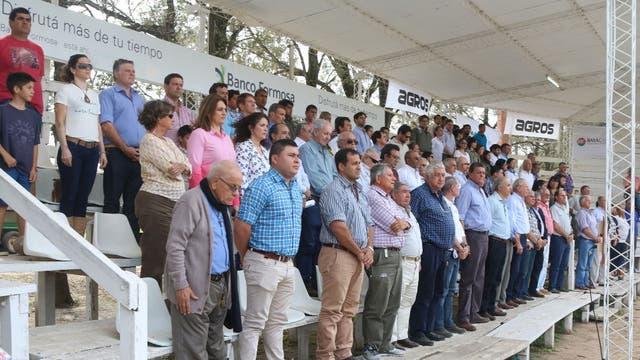 Dirigentes rurales y funcionarios en la Expo Formosa 2017