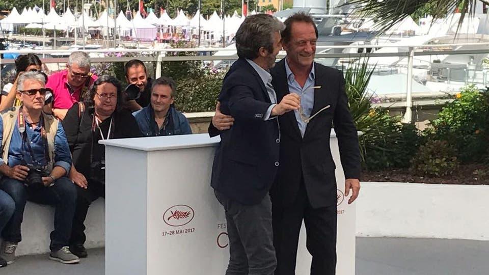 Darín con el actor francés Vincent Lindon.