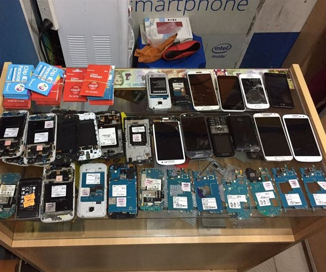 Celulares robados, secuestrados en un local del barrio de Once