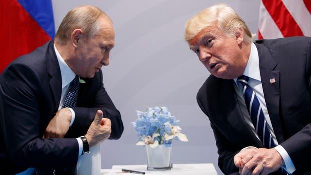 Donald Trump y Vladimir Putin durante la cumbre del G-20