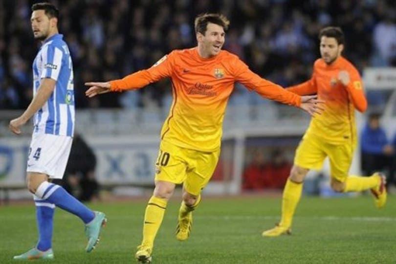 Leo Messi cumplió toda una vuelta convirtiendo en la liga española.