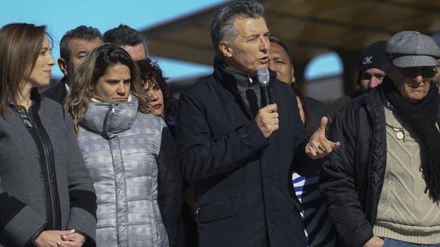 Vidal y Macri, durante el acto en La Matanza
