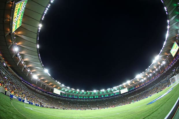 Decime si viste una mejor foto del Maracaná que esta....  Foto:AFP