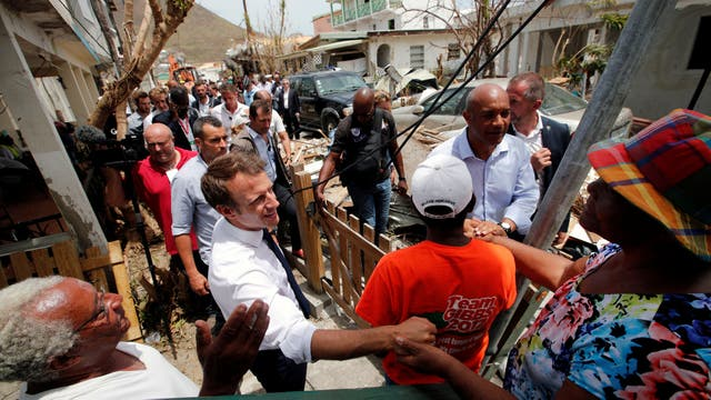 Huracán Irma: Macron y el Rey de Holanda fueron a Saint Martin para brindar apoyo tras la destrucción