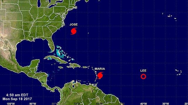 """El huracán María cobra más fuerza y aseguran que su impacto será """"catastrófico"""""""