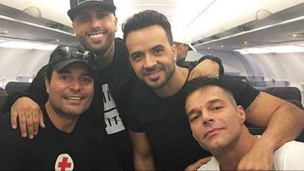 Ricky Martin, Luis Fonsi, Chayanne y Nicky Jam viajaron juntos a Puerto Rico para ayudar a las víctimas del huracán