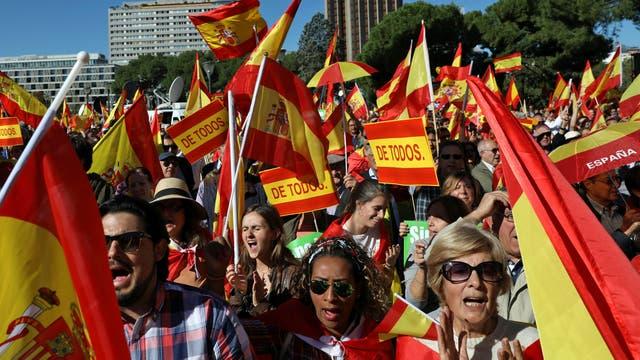 En Madrid hubo hoy una manifestación a favor de la unidad de España