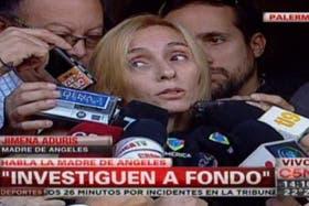 La madre de Ángeles Rawson atendió este mediodía a los medioa en la puerta de su casa en Buenos Aires