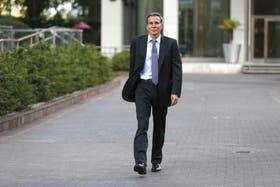El fiscal Nisman, en Puerto Madero, el jueves pasado