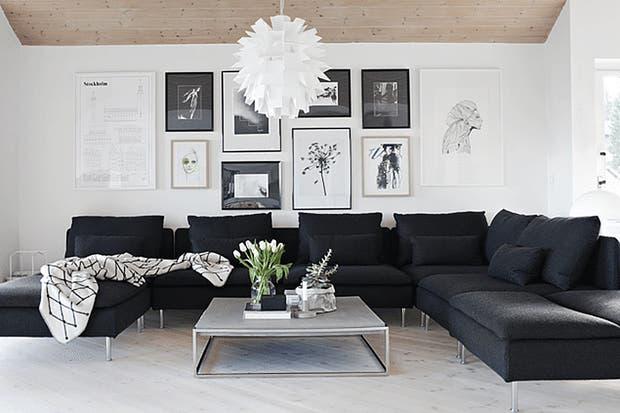 Propuestas para decorar tu living en blanco y negro - Living - ESPACIO ...
