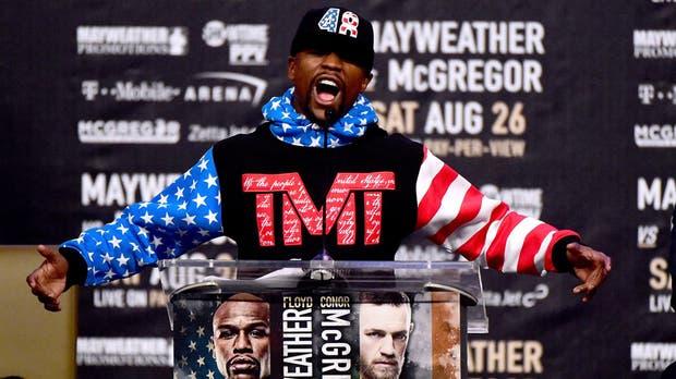Floyd Mayweather, el día del anuncio de la pelea con McGregor