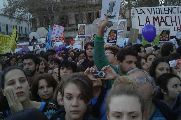 Postales de la marcha contra la violencia de género