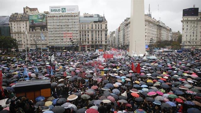 El paro del 19 de octubre se realizó en torno al Obelisco; este año la convocatoria es al Congreso