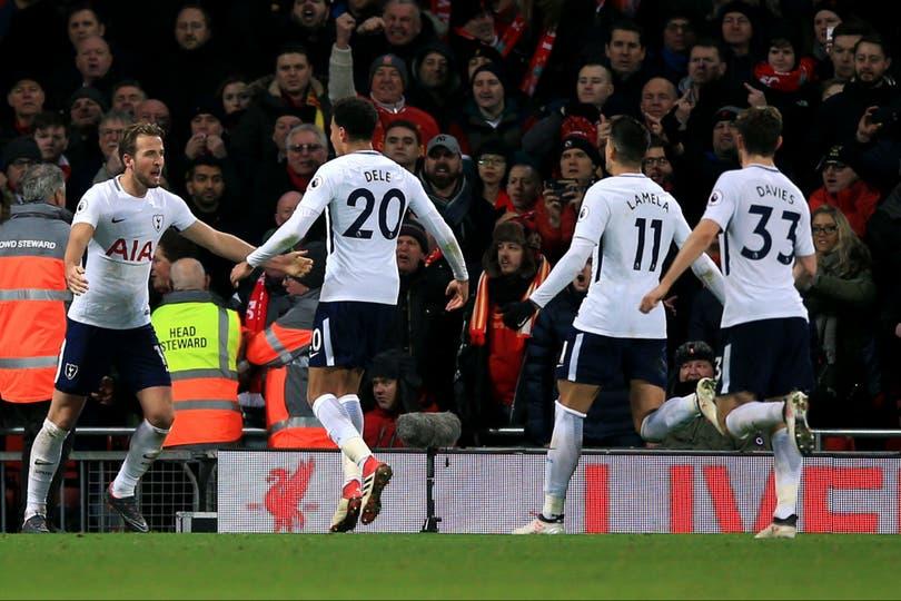 Harry Kane empató el encuentro al minuto 94, entre Tottenham y Liverpool