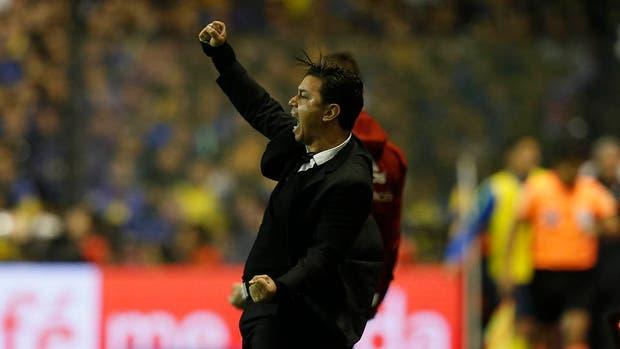 La explosión final de Gallardo: River ganó en la Bombonera por primera vez con él como entrenador