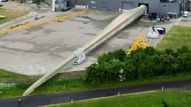 Cada aspa del aerogenerador tiene un tamaño de 88.4 metros.