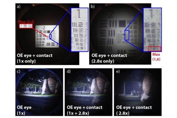 La combinación de lentes y anteojos especiales es lo que logra el aumento en la visión