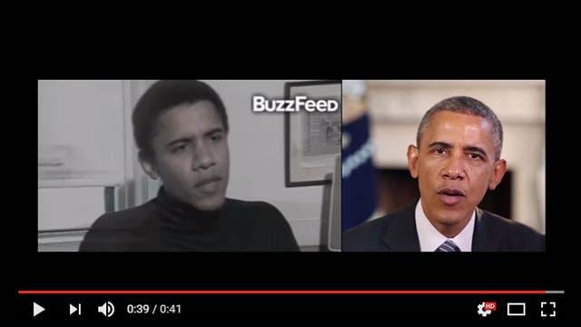 En una de las pruebas realizadas se logró sincronizar el audio y el movimiento de los labios del actual Obama con una entrevista de archivo de 1990