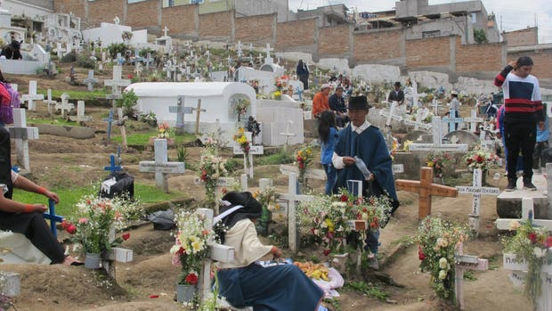El cementerio indígena de Otavalo, a 100 km de Quito
