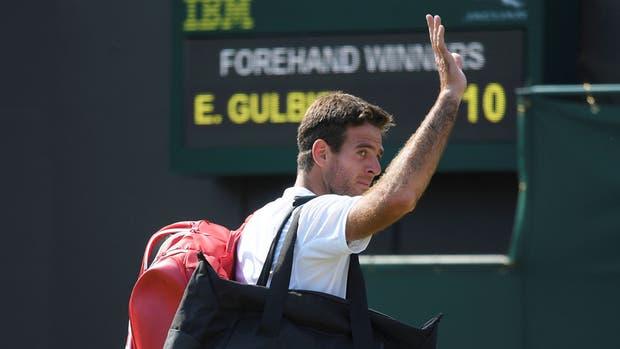 Del Potro cayó ante Gulbis y fue eliminado de Wimbledon