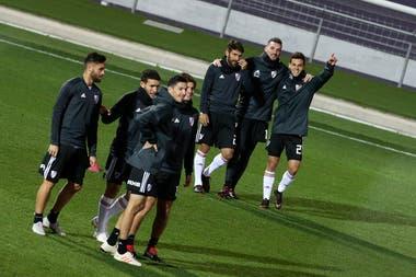 Una escena del entrenamiento de River de este jueves, en la ciudad deportiva de Real Madrid.