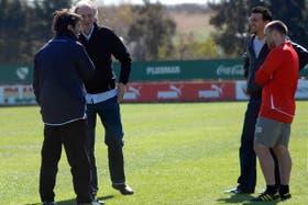 César Menotti estuvo presente en la práctica con Daniel Garnero