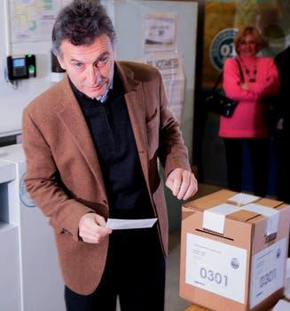 Maurio Macri, emite su voto. Foto: LA NACION / Miguel Acevedo Riú