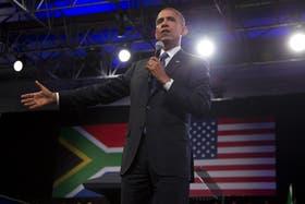 Obama elogió en su discurso la figura de Mandela
