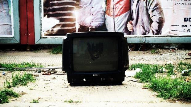 Televisores, algo frecuente cerca de los cestos