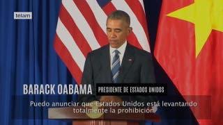 Decisión histórica de Obama: levantó el embargo de armas a Vietnam
