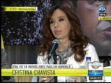 Cristina Kirchner en el homenaje a Chávez. Fuente: A24