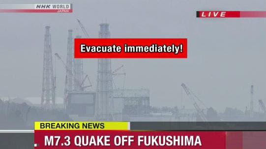 Alerta de Tsunami en la televisión japonea.