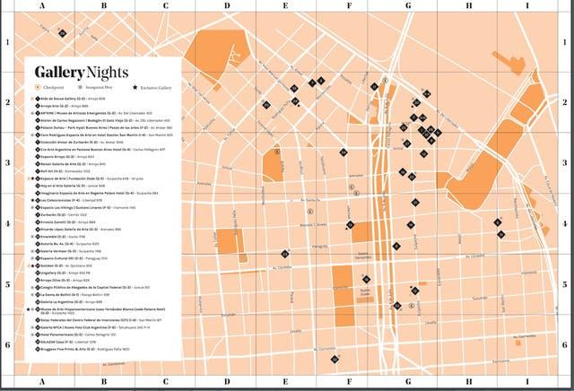 Mapa de Gallery Nights