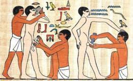Parece que la circuncisión la hacían cuando los hombres ya tenían uso de razón.