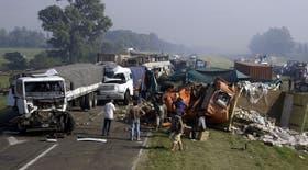 El tránsito fue interrumpido tras los diversos accidentes