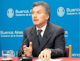 Macri, ayer, durante la conferencia de prensa en la que anunció la fecha de las elecciones porteñas