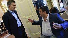 El presidente de la Nación Mauricio Macri, junto a el ministro de Trabajo Jorge Triaca