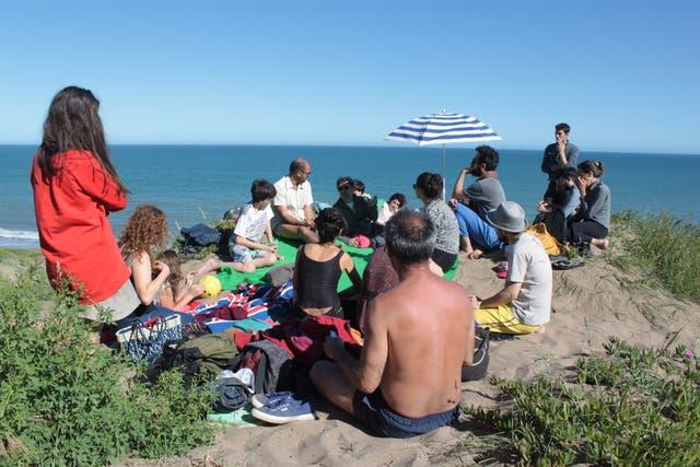Charla de Jorge Macchi en la Beca Mundo Dios, en Mar del Plata