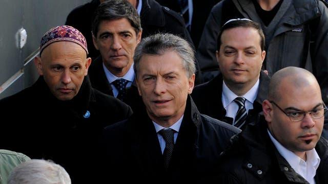El Presidente de la Nación, Mauricio Macri, participó del acto homenaje a las víctimas de la AMIA. Foto: DyN / PABLO AHARONIAN