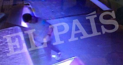 El sospechoso tras el atentado. Foto: Gza. El País