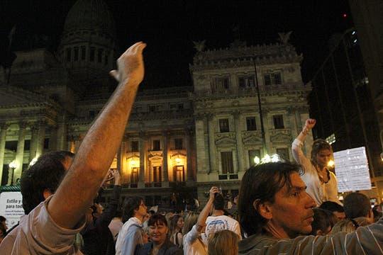 El Cipayo en plena manifestación del 18A. Foto: LA NACION / Matías Aimar