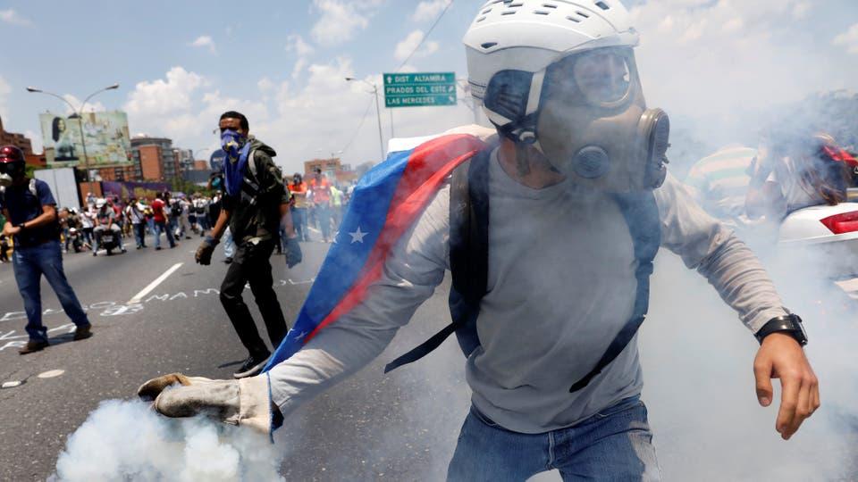 Desde hace cuatro semanas hay manifestaciones en contra de Maduro. Foto: Reuters / Carlos Garcia Rawlins