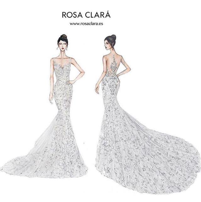 El vestido de Antonela Rocuzzo