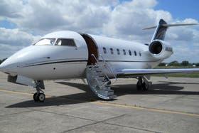 El Bombardier Challenger 604 en el que se transportó la cocaína
